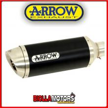 51513AON MARMITTA ARROW STREET THUNDER YAMAHA MT 125 2014-2016 DARK/INOX