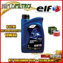 KIT TAGLIANDO 6LT OLIO ELF CITY 10W40 HONDA TRX500 FE Fourtrax Foreman 4 x 4 ES 500CC 2005-2016 + FILTRO OLIO HF113