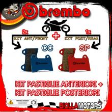 BRPADS-41267 KIT PASTIGLIE FRENO BREMBO NORTON COMMANDER 1990- 0CC [CC+SP] ANT + POST