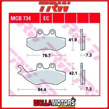 MCB734EC PASTIGLIE FRENO ANTERIORE TRW Generic (KSR Moto) TR 50 Trigger SM 2006- [ORGANICA- EC]