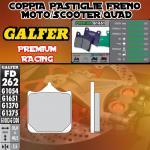 FD262G1651 PASTIGLIE FRENO GALFER PREMIUM ANTERIORI TM SMX 660 F 04-