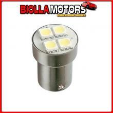 98329 LAMPA 24/28V HYPER-LED 12 - 4 SMD X 3 CHIPS - (P21W) - BA15S - 1 PZ - D/BLISTER - ARANCIO - DOPPIA POLARIT?