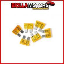 70181 LAMPA SMART LED, SET 6 FUSIBILI LAMELLARI CON SPIA A LED, 12/32V - 5A