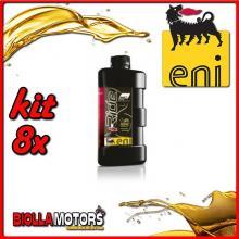 KIT 8X LITRO OLIO ENI I-RIDE RACING 5W40 TOP SYNTHETIC - 8x E528991
