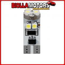 98380 LAMPA 24V HYPER-LED 24 - 8 SMD X 3 CHIPS - (T10) - TRIFOCUS - W2,1X9,5D - 2 PZ - D/BLISTER - BLU - DOPPIA POLARIT? - RESIS
