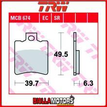 MCB674LC PASTIGLIE FRENO ANTERIORE TRW Generic (KSR Moto) 50 Onyx 2/4T 2010- [ORGANICA- LC]