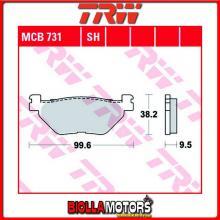 MCB731 PASTIGLIE FRENO POSTERIORE TRW Hyosung GV 650 Aquila 2004-2006 [ORGANICA- ]