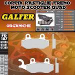 FD187G1054 PASTIGLIE FRENO GALFER ORGANICHE ANTERIORI HONDA CMX REBEL 250 (NISSIN) 96-97