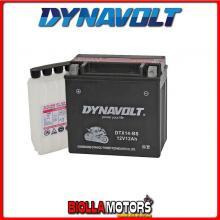 DTX14-BS BATTERIA DYNAVOLT YTX14-BS SIGILLATA CON ACIDO YTX14BS MOTO SCOOTER QUAD CROSS