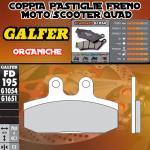 FD195G1054 PASTIGLIE FRENO GALFER ORGANICHE POSTERIORI APRILIA MANA X / ABS 10-