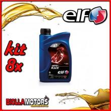 KIT 8X LITRO OLIO ELF MOTO 2 RACE SINTETICO - 8x 201733