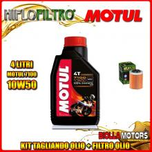 KIT TAGLIANDO 4LT OLIO MOTUL 7100 10W50 APRILIA RSV 1000 Mille 1000CC 1999-2004 + FILTRO OLIO HF152