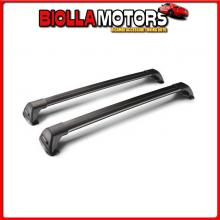 Y8050232 YAKIMA FLUSH BLACK MIXED, COPPIA BARRE PORTATUTTO TELESCOPICHE IN ALLUMINIO - 85+90 CM CHEVROLET SPARK - RAILING (02/10