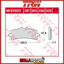 MCB792SV PASTIGLIE FRENO ANTERIORE TRW Ducati 848 Evo, Evo Corse 2011- [ORGANICA- ]