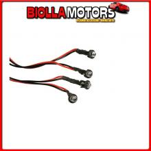 70424 PILOT SET 4 LED 12V - ? 5 MM - BLU