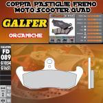 FD089G1054 PASTIGLIE FRENO GALFER ORGANICHE ANTERIORI TM 125 GS, MC 90-92