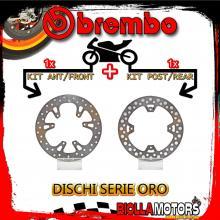 BRDISC-742 KIT DISCHI FRENO BREMBO HM CRE X ENDURO 2007- 250CC [ANTERIORE+POSTERIORE] [FISSO/FISSO]