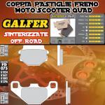 FD075G1396 PASTIGLIE FRENO GALFER SINTERIZZATE POSTERIORI TM 125 GS, MC 90-92