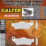 FD186G1054 PASTIGLIE FRENO GALFER ORGANICHE POSTERIORI APRILIA CAPONORD RAID 03-