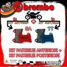 BRPADS-5208 KIT PASTIGLIE FRENO BREMBO DUCATI MONSTER 2017- 797CC [SA+TT] ANT + POST