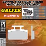 FD113G1054 PASTIGLIE FRENO GALFER ORGANICHE ANTERIORI SYM CINDERELLA 99-