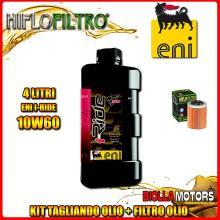 KIT TAGLIANDO 4LT OLIO ENI I-RIDE 10W60 TOP SYNTHETIC APRILIA RSV 1000 Mille 1000CC 1999-2004 + FILTRO OLIO HF152