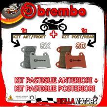 BRPADS-25685 KIT PASTIGLIE FRENO BREMBO CANNONDALE MX 2000- 400CC [SX+SD] ANT + POST
