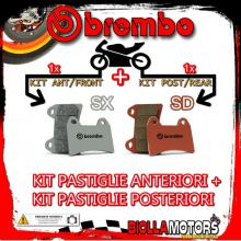 BRPADS-25784 KIT PASTIGLIE FRENO BREMBO HM CR SUPERMOTARD 2004- 125CC [SX+SD] ANT + POST