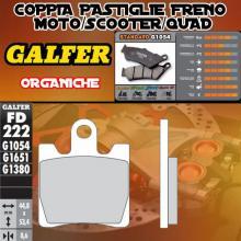 FD222G1054 PASTIGLIE FRENO GALFER ORGANICHE ANTERIORI SYM GTS 250 07-