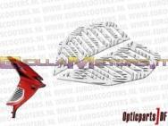 ODF-14517-AR COPPIA GRIGLIE LATERALI AREATE ODF ALLUMINIO- APRILIA SR