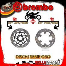 BRDISC-2459 KIT DISCHI FRENO BREMBO BENELLI TNT CAFE' RACER 2007- 1130CC [ANTERIORE+POSTERIORE] [FLOTTANTE/FISSO]