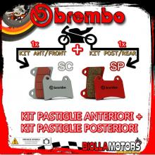 BRPADS-46588 KIT PASTIGLIE FRENO BREMBO BUELL S3 THUNDERBOLT 2001- 1200CC [SC+SP] ANT + POST