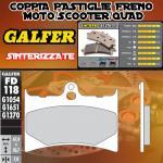 FD118G1370 PASTIGLIE FRENO GALFER SINTERIZZATE ANTERIORI GILERA RC 600 R, COBRA 94-