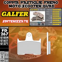 FD267G1371 PASTIGLIE FRENO GALFER SINTERIZZATE POSTERIORI HONDA X-4 LOW DOWN 00-