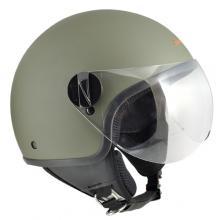 1WH-BSA-07A CASCO JET 1WH WOLLI VERDE GOMMATO TAGLIA XS
