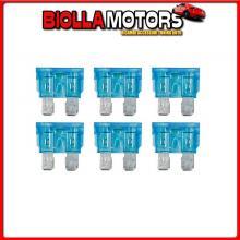 70184 LAMPA SMART LED, SET 6 FUSIBILI LAMELLARI CON SPIA A LED, 12/32V - 15A