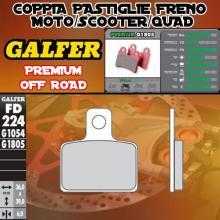 FD224G1805 PASTIGLIE FRENO GALFER PREMIUM POSTERIORI JOTAGAS JTG 300 JT 12-