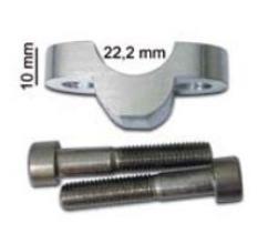 CLM-2230 RIALZI - SPESSORI - RAISER MANUBRI D.22,2 ALTEZZA 10MM