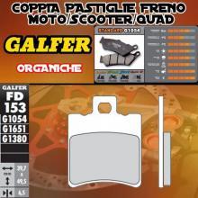 FD153G1054 PASTIGLIE FRENO GALFER ORGANICHE ANTERIORI RENAULT KOURANOS 02-