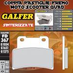FD367G1375 PASTIGLIE FRENO GALFER SINTERIZZATE ANTERIORI APRILIA SHIVER SL GT / ABS 09-