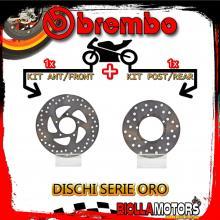 BRDISC-571 KIT DISCHI FRENO BREMBO DERBI PREDATOR 1999- 125CC [ANTERIORE+POSTERIORE] [FISSO/FISSO]