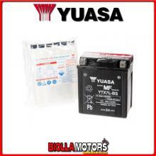 E01157 BATTERIA YUASA YTX7L-BS SIGILLATA CON ACIDO YTX7LBS MOTO SCOOTER QUAD CROSS