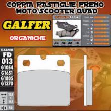 FD013G1054 PASTIGLIE FRENO GALFER ORGANICHE ANTERIORI S.W.M. 350 XP SAHARA 86-