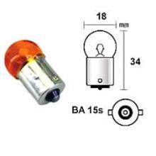 E0300449 LAMPADA FRECCE 12V 10W BA15S ARANCIONE