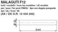 5832 COPPIA STELI FORCELLA MALAGUTI F12 tutti i modelli PAIOLI con 2 pompante