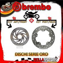 BRDISC-213 KIT DISCHI FRENO BREMBO APRILIA SCARABEO LIGHT 2007- 500CC [ANTERIORE+POSTERIORE] [FISSO/FISSO]