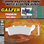 FD205G1651 PASTIGLIE FRENO GALFER PREMIUM ANTERIORI VICTORY VISION 8 BALL 10-