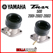 77140630+77140631 KIT COLLETTORE ASPIRAZIONE DX+SX YAMAHA TMAX 2001 2002 2003