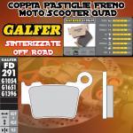 FD291G1396 PASTIGLIE FRENO GALFER SINTERIZZATE POSTERIORI HUSQVARNA STR 650 CRC 07-