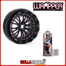 267209918 VERNICE REMOVIBILE WRAPPER PELLICOLA SPRAY ARGENTO 400ML WRAPPING TUNING CERCHI AUTO MOTO